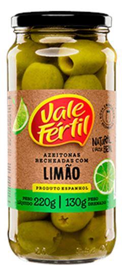 AZEITONA VIDRO RECHEADA LIMÃO VALE FÉRTIL