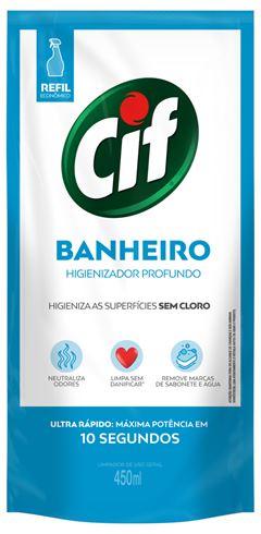 LIMPADOR BANHEIRO SEM CLORO ULTRA RÁPIDO SACHÊ CIF