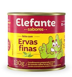 EXTRATO TOMATE ERVAS FINAS LATA ELEFANTE