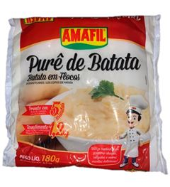 PURÊ DE BATATA EM FLOCOS SACHÊ AMAFIL