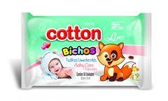 TOALHA UMEDECIDA BABY CARE  BICHOS COTTON
