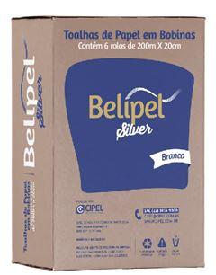 TOALHA DE PAPEL BRACO ROLO 200M X 20CM BELIPEL