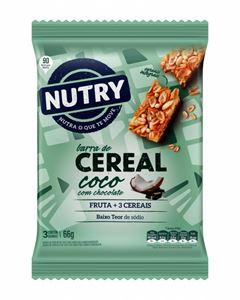 BARRA DE CEREAIS SACHÊ COCO COM CHOCOLATE NUTRY