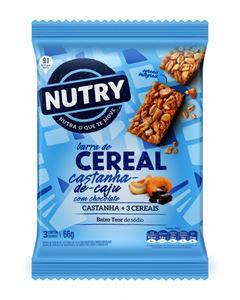 BARRA DE CEREAIS SACHÊ CAJU COM CHOCOLATE NUTRY