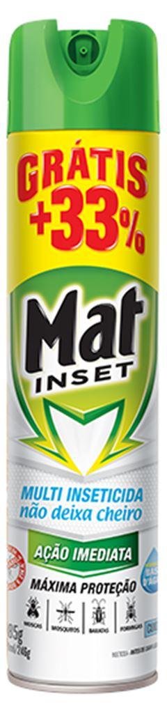 INSETISIDA AEROSOL MULTI INSETICIDA SEM CHEIRO + 33% MAT INSET