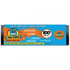 SACO DE LIXO PRETO 100 LITROS 75X1,05CM PEG-LIXO