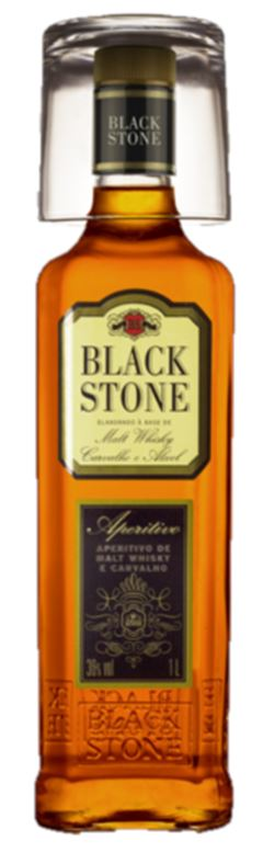 BEBIDA WHISKY COM COPO BLACK STONE