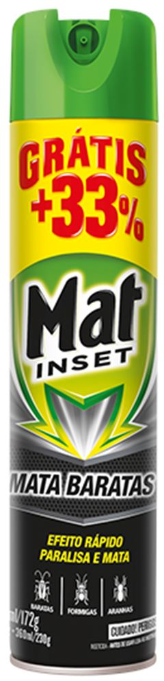 INSETICIDA AEROSOL MATA BARATAS + 33% MAT INSET