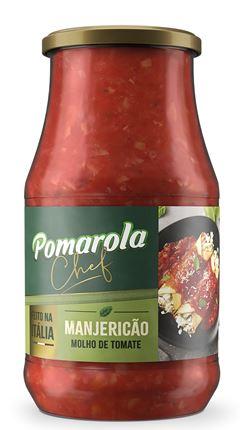 MOLHO CHEF MANJERICÃO VIDRO POMAROLA