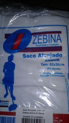 SACO P/CHÃO ALVEJADO COMUM 62X36 ZEBINA