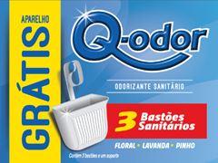 BLOCO SANITÁRIO 3 UNIDADES SORTIDO + APARELHO Q-ODOR