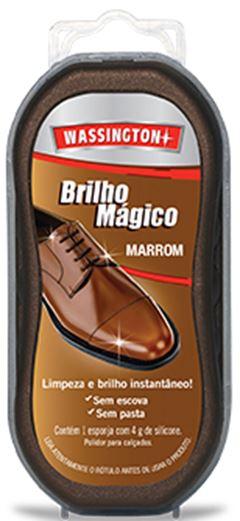 ESPONJA BRILHO MÁGICO MARROM WASSINGTON