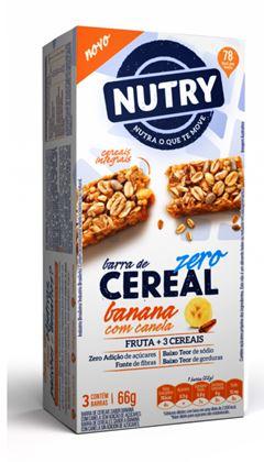 BARRA CEREAL ZERO CAIXA BANANA COM CANELA NUTRY
