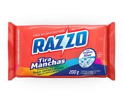 SABÃO TABLETE INDIVIDUAL TIRA MANCHAS RAZZO