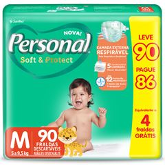 FRALDA HIPER M LEVE 90 PAGUE 86 PERSONAL BABY