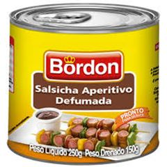 SALSICHA APERITIVO DEFUMADA LATA BORDON