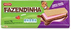 WAFER CHOCOLATE COM MORANGO FAZENDINHA