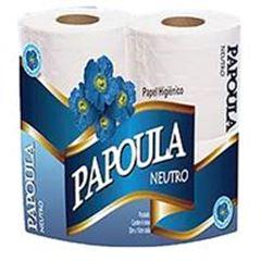 PEPEL HIGIÊNICO NEUTRO 60 METROS PAPOULA