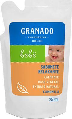 SABONETE LÍQUIDO GLICERINA BEBÊ CAMOMILA REFIL GRAMADO