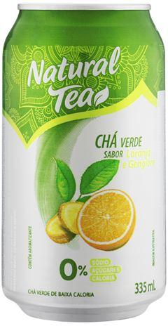 CHÁ VERDE COM LARANJA E GENGIBRE NATURAL TEA