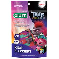 FIO DENTAL KIDS FLOSSERS TROLLS GUM
