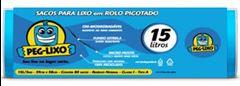 SACO LIXO ROLO AZUL 15 LITROS 39 X 58CM PEG-LIXO