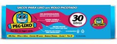SACO LIXO ROLO AZ 30 LITROS 59 X 62CM PEG-LIXO