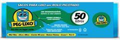 SACO LIXO ROLO AZ 50 LITROS 63 X 80CM PEG-LIXO