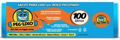 SACO DE LIXO ROLO AZ 100 LITROS 75X1,05CM PEG-LIXO