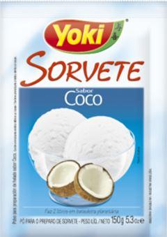 PÓ PARA SORVETE COCO SACHÊ YOKI