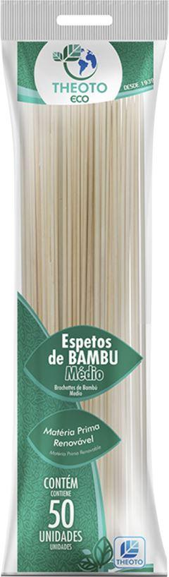 ESPETO BAMBU 25CM X 3MM THEOTO