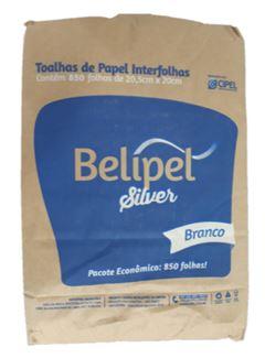 TOALHA DE PAPEL BRANCA 20,5 X 23CM BELIPEL