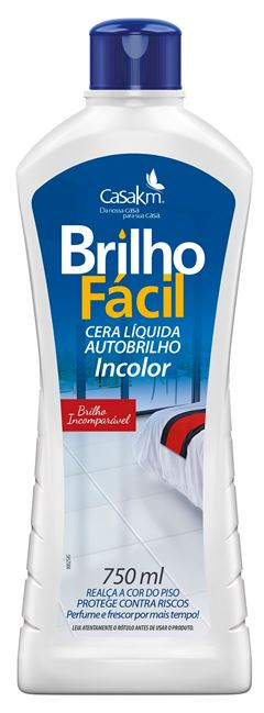 CERA LÍQUIDA INCOLOR BRILHO FÁCIL